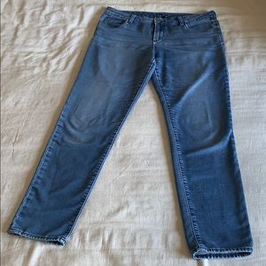 Kut from the Kloth Knit Denim Skinny Jeans 12